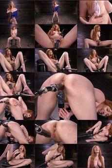 Busty Redhead Lauren Phillips Gets Machine Fucked In The Dungeon