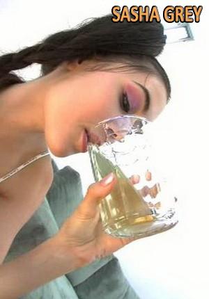 Girls Drinking Cum Glass